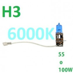 BOMBILLA H3 HALOGENA 55-100W EFECTO XENON