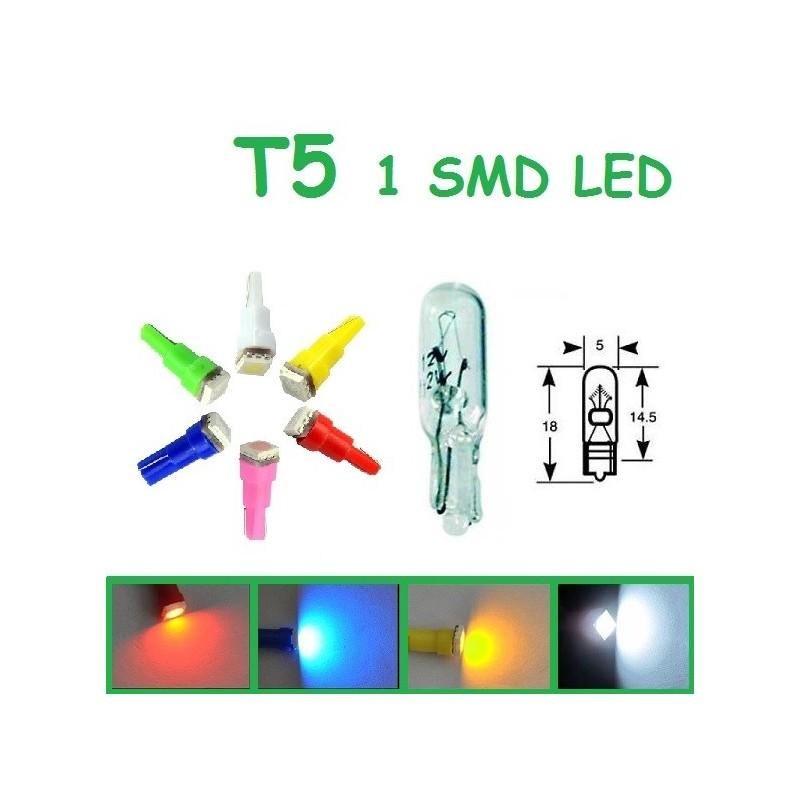 BOMBILLA T5 1 SMD LED COLORES
