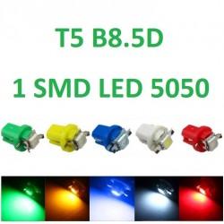 BOMBILLA T5 B8.5D 1 SMD LED 5050