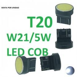 BOMBILLA W21/5W T20 7443 COB 12 LED 12V