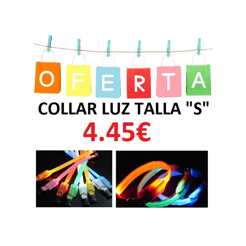 COLLAR LUZ LED TALLA S