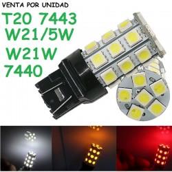 BOMBILLA LED T20 W21/5W 7443 7440 580 W21W LUZ POSICION Y FRENO 230LM