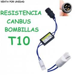 ELIMINADOR DE ERROR T10 LED W5W CANBUS COCHE