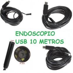 Endoscopio Cámara 10 Metros 10M 10mm USB Móvil Tablet Ordenador