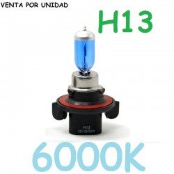 BOMBILLA H13 PJ26.4T 12V 55W-60W HALOGENA LUZ BLANCA 6000K