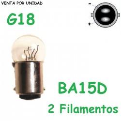 Bombilla G18 10/5W BA15D S25 Luz Posición Intermitente Moto Scooter