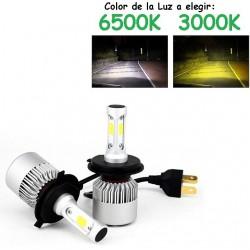 Kit H4 9003 Hb2 Led 16000 Lúmen Luz Blanca o Amarilla Coche Camión Moto