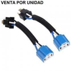 Cable Conector Cerámico Macho Hembra Bombilla H4 H4-2 9003 Estandar