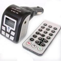 TRANSMISOR FM BLUETOOTH MP3, MANOS LIBRES USB-SD
