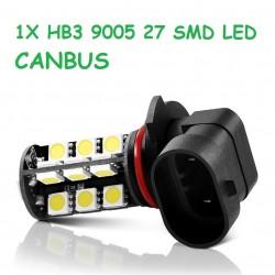 BOMBILLA HB3 9005 LED 27 SMD LED CANBUS. NO DA ERROR.